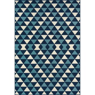 Indoor/ Outdoor Kaleidoscope Rug (6'7 x 9'6)