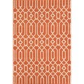Indoor/ Outdoor Orange Links Rug (2'3 x 4'6)