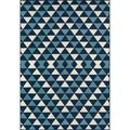 Indoor/ Outdoor Blue Kaleidoscope Rug (1'8 x 3'7)