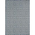Indoor/ Outdoor Navy Diamonds Rug (8'6 x 13'0)