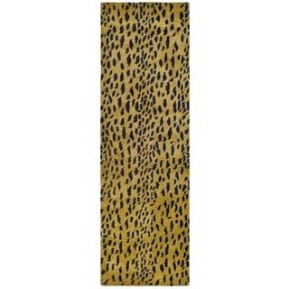 Safavieh Handmade Soho Beige/ Brown Wool Rug (2'6 x 14')
