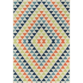 Indoor/ Outdoor Multi Kaleidoscope Rug (7'10 x 10'10)