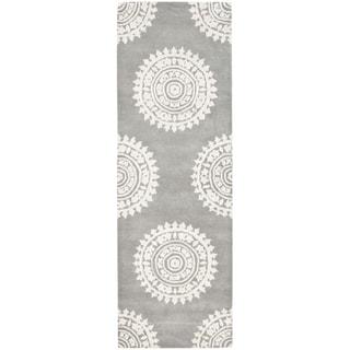 Safavieh Handmade Soho Light Grey/ Ivory Wool Rug (2'6 x 22')
