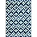 Indoor/Outdoor Blue Blocks Rug (3'11 x 5'7)