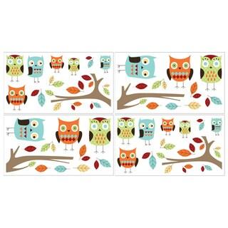 Sweet JoJo Designs Hooty Owl Wall Decal Stickers