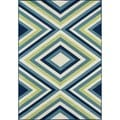 Indoor/ Outdoor Multi Zig-Zag Rug (3'11 x 5'7)