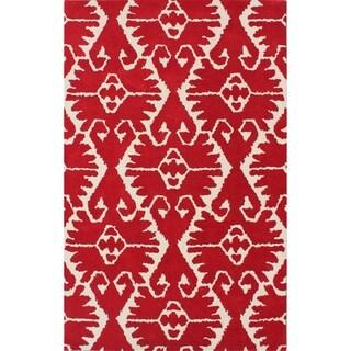 Safavieh Handmade Wyndham Red/ Ivory Wool Rug (4' x 6')