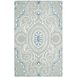Safavieh Handmade Wyndham Blue/ Ivory Wool Rug (3' x 5')