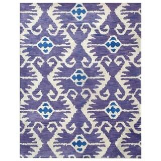 Safavieh Handmade Wyndham Lavender/ Ivory Wool Rug (4' x 6')