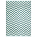 Indoor/ Outdoor Blue Chevron Rug (7'10 x 10'10)