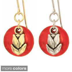 Tulip and Sunset Earrings