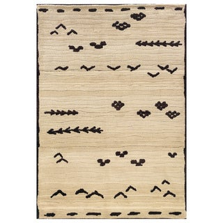 "Old World Tribal Transitional Ivory/Brown Rug (6'7"" x 9'1"")"
