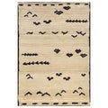 "Old World Tribal Ivory/Brown Polypropylene Rug (7'10"" x 10'10"")"
