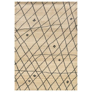 Old World Tribal Ivory/Brown Area Rug (9'9