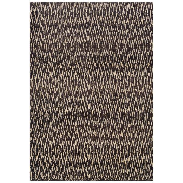 Old World Tribal Ivory/ Grey Rug (9'9 x 12'2)