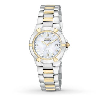 Citizen Women's Eco-Drive 'Riva' Mother of Pearl Dial Watch