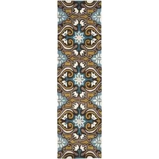 Safavieh Handmade Wyndham Blue Wool Rug (2'3 x 7')