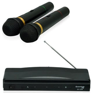 QFX M-336 Professional Dynamic Twin Pack Wireless Microphones System