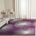 Safavieh Handmade Soho Burst Purple/ Ivory Wool Rug (3'6 x 5'6)