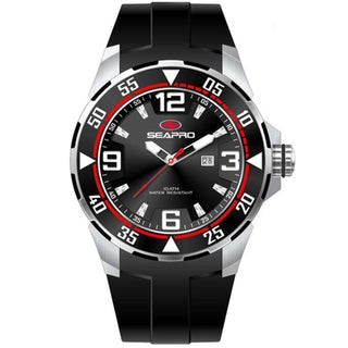 Seapro Men's 'Drive' Black Dial Watch