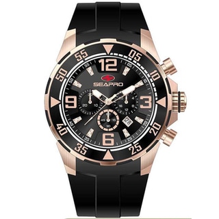 Seapro Men's 'Drive' Black Dial Chronograph Watch