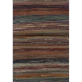 Multicolored Stripe Area Rug (7'10 x 10'10)