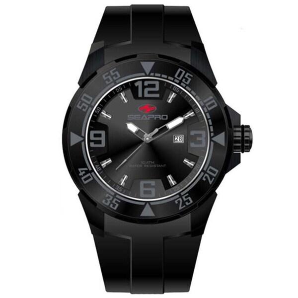Seapro Men's Black 'Drive' Watch