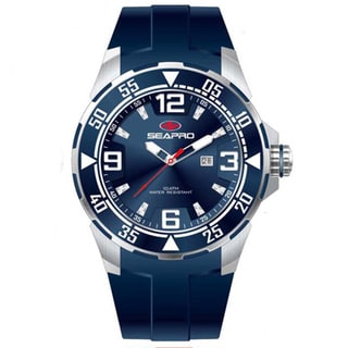 Seapro Men's 'Drive' Blue Dial Watch