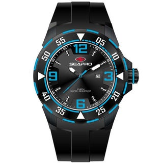 Seapro Men's 'Drive' Black/ Blue Watch