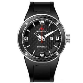 Seapro Men's Black Dial Diver Watch