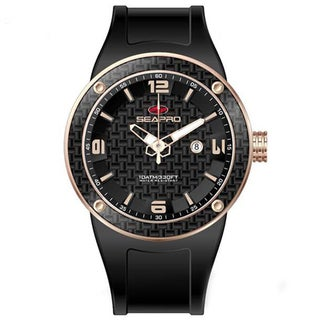 Seapro Men's Diver Rose Goldtone/ Black Watch