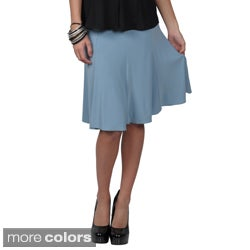 Tressa Collection Women's Elastic Waist Stretch Knit Flare Skirt