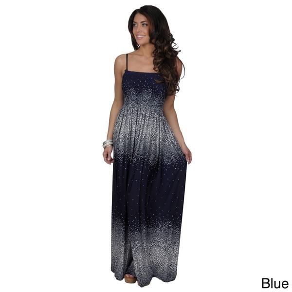 Tressa Women's Contemporary Plus Smocked Maxi Dress