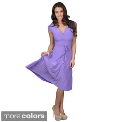 Tressa Collection Women's Stretchy Belted Waist Dress