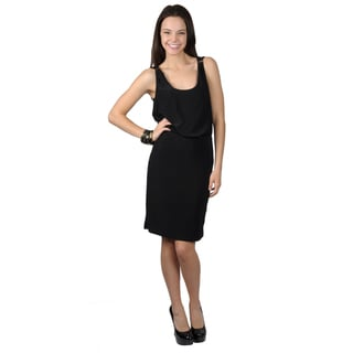 Journee Collection Women's Sleeveless Scoop-Neck Black Dress