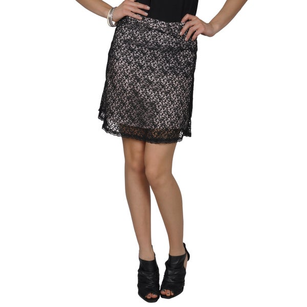 Hailey Jeans Co. Juniors Lace Overlay A-line Skirt