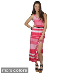 Journee Collection Women's Sleeveless Striped Maxi Dress