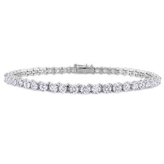 Miadora 14k White Gold 6ct TDW Diamond Tennis Bracelet (G-H, I1-I2)