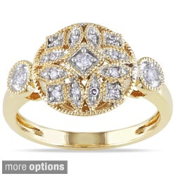 Miadora 14k Gold 1/6ct TDW Pave Diamond Ring (G-H, I1-I2)