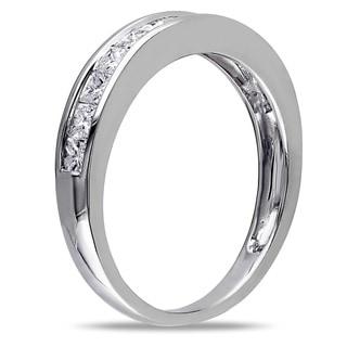 Miadora 14k White Gold 3/4ct TDW Diamond Anniversary Ring (G-H, I2-I3)