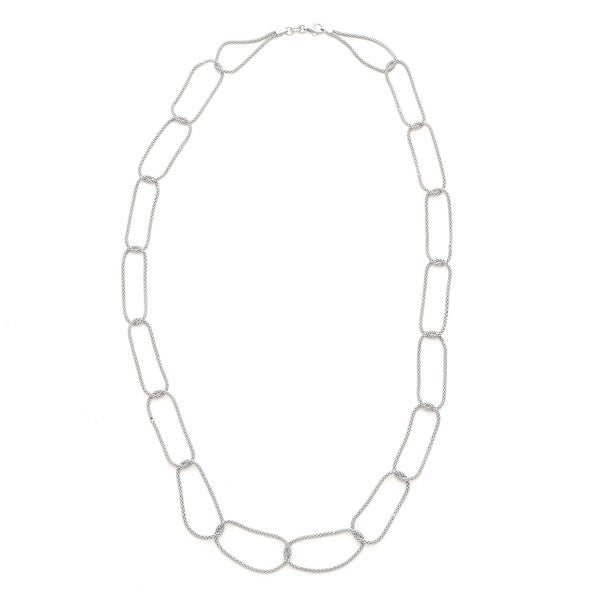 Gioelli Sterling Silver Linked Mesh Necklace
