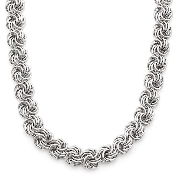 Gioelli Sterling Silver Rosetta Necklace