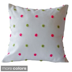 White, Blue and Green Tuft Decorative Pillow Cover