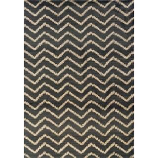 Old World Tribal Grey/ Ivory Area Rug (9'9 x 12'2)