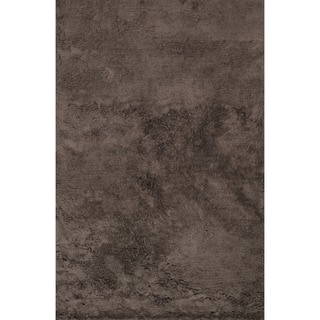 Hand-tufted Ellis Chocolate Shag Rug (3'6 x 5'6)