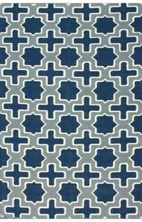 nuLOOM Rug Collecive Handmade Flatweave Trellis Blue Wool Rug (7'6 x 9'6)