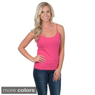 Fashion Corner Juniors Layering Scoop Neck Cotton/Spandex Tank Top