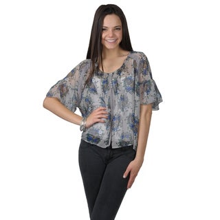 Journee Collection Women's Lightweight Floral Print Top