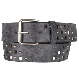 Journee Collection Women's CutOut Stud Detail Belt