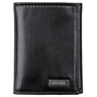 Guess Men's Genuine Leather Tri-fold Wallet